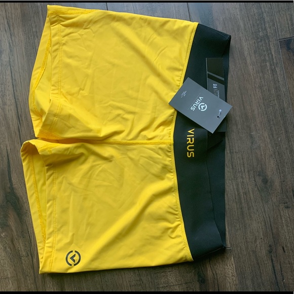 Virus Pants - Virus Intl - Yellow Shorts - XL - NWT